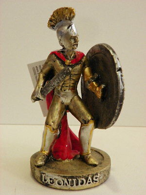 Leonidas Spartan Warrior 5.5'' Figurine Statue Historical Greek Mythology