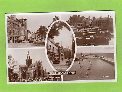 Kirkwall Multi View Orkney RP pc unused Valentines Ref E452