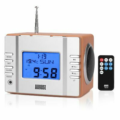 August MB300 UKW Radiowecker - 2x3W Stereolautsprecher, USB/SD Slot Radio wecker