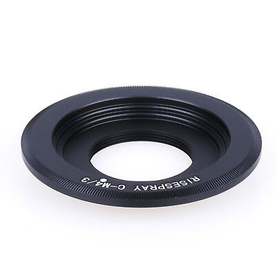 C-M4/3 Black Magic C Mount TV Lens to BMPCC Adapter MFT Micro 4/3 Camera Black