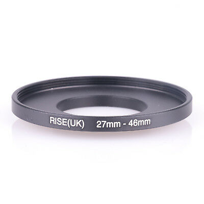 27mm-46mm 27-46 mm 27 to 46 Step Up Filter Ring Stepping Adapter Adaptor Black