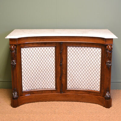 Magnificent Quality Concave Front Antique Victorian Mahogany Chiffonier