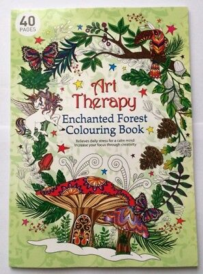 Art Therapy Enchanted Forest Colouring Book