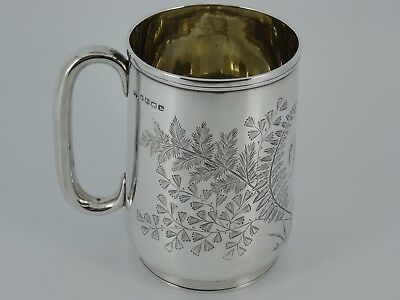 Rare Victorian Solid Sterling Silver Christening Mug Cup Exeter 1877 159G