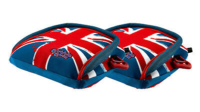 BubbleBum Car Booster Seat - Twin Union Jack Bundle