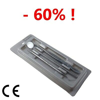 3X Dental Diagnostic Kit Examination Kit (Mirror, Scale Remover) FOR 9.99 ONLY !