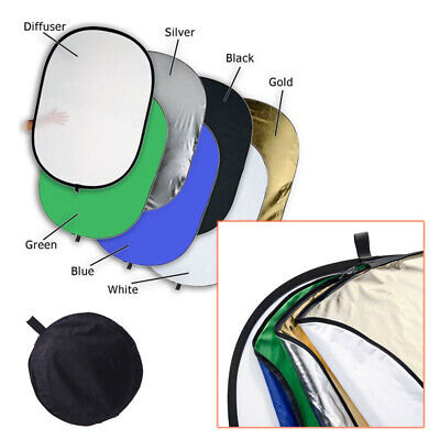 Large Light Reflector - 120x180cm Rectangle Multi Collapsible 7in1 -Photo Studio