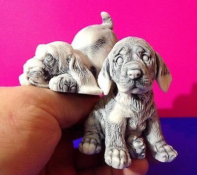 Spaniel Puppy Dogs figurines Souvenirs from Russia marble chips Cocker /Springer
