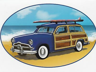 "*Postcard-""The Surfboard on Top of Station Wagon"" (#257)"
