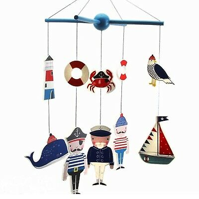 Pirate Mobile For Kids Seaside Bedroom Decoration Nautical Ship Whale New