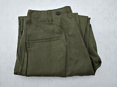 WW2 US Army HBT Combat Pants Size 30 X 30 13 Star Button Dated 1945