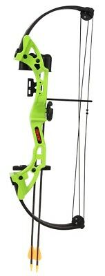 Bear Brave Junior Archery Compound Bow Kit With Accessories & Arrows ** Green **