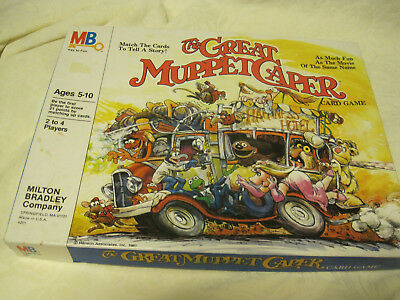 1981 Milton Bradley The Great Muppet Caper Card Game COMPLETE