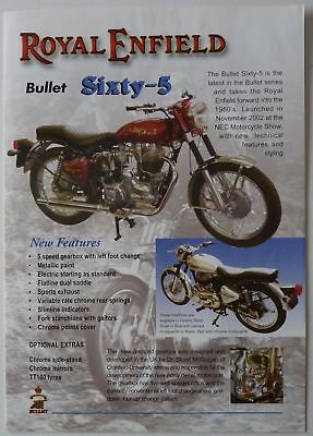 Royal Enfield Sales Brochure - Bullet Sixty-5 - 2003