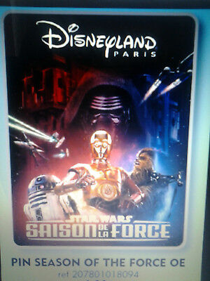 pins disney star wars saison de la force disneyland paris