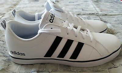 85558c39fbb218 Adidas NEO Men s Pace VS Fashion Sneakers Shoes White Black AW4594 10.5