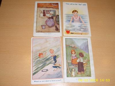 Children - Artist Signed Vintage Postcards