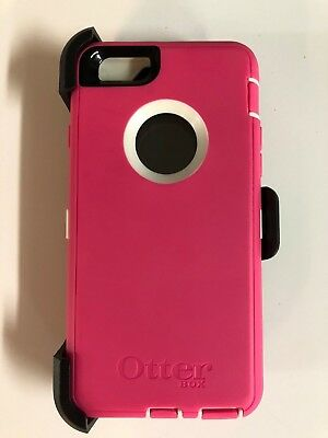 OtterBox Defender Case w/Holster Belt Clip for iPhone 6 iPhone 6s Pink/White