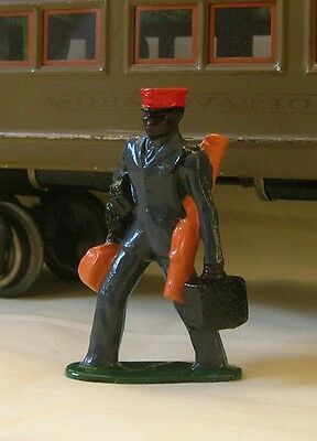 Platform Porter w/luggage, Standard Gauge model train figure, Ives, Dorfan, etc.
