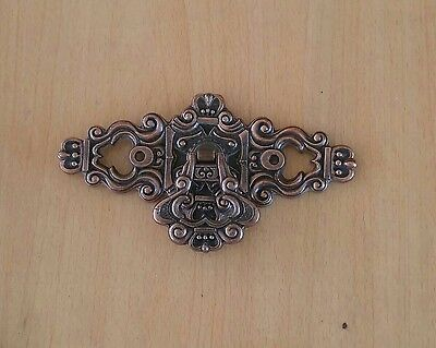 Vintage Hyer French Provincial Drawer Pull Rococo Copper Fancy Ornate Gothic