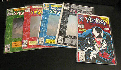 Lot of 5 30th Anniv SPIDER-MAN •#365 •#26 •Web of/#90 •Spectac189/Venom Spcl NM-