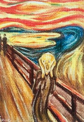ACEO The Scream Edvard Munch PRINT reproduction painting