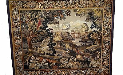 A Nice Antique Tapestry with Parrot and Pheasant