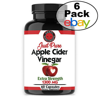 Weight Loss Just Pure Apple Cider Vinegar Pills Natural 6 Pk Angry Supplements