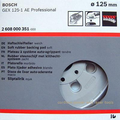 Bosch GEX 125-1 AE SOFT Sanding Pad 125mm Rubber Base Plate  2608000351
