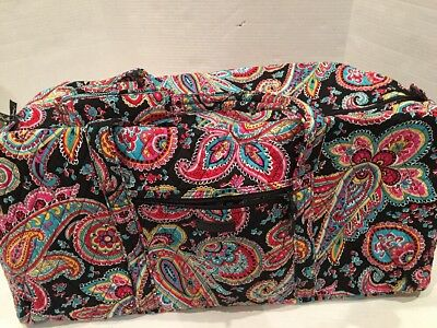 NWT Vera Bradley XL Extra Large Duffel Parisian Paisley Quilted Luggage NEW