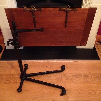 Antique Victorian Reading Table Library Carters London Oak Book Stand  Bedside