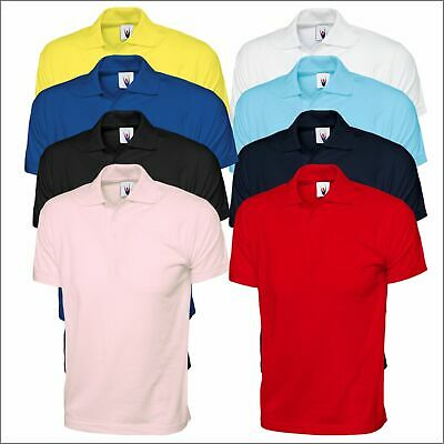 Mens Womens Soft 100 Cotton Jersey Poloshirt Casual Leisure Work