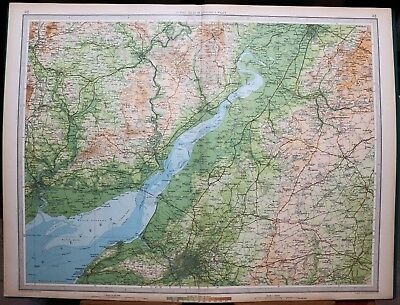 1939 Survey Map England & Wales Bristol Monmouth Newport Usk Chepstow Stroud