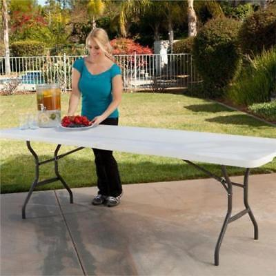 New 6ft Folding Heavy Duty Catering Trestle Party Garden Table White