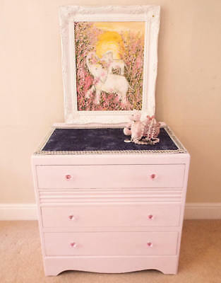 Painted chest of drawers Mid century chest of drawers Retro Pink Furniture