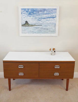 Mid Century Modern Chest of drawers Upcycled painted teak chest of drawers Retro