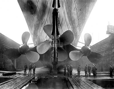 Rms Titanic Three Propellers Seen While In Dry Dock - 11X14 Photo (Lg-113)