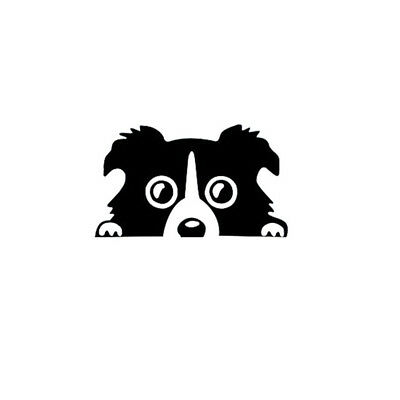 Black Border Collie Dog Pet Car Sticker Vinyl Cars Decals Auto Window Sticker