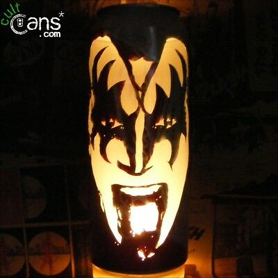 Gene Simmons Beer Can Lantern! Kiss Pop Art Portrait Candle Lamp