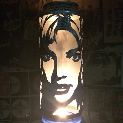 Britney Spears Beer Can Lantern! Pop Art Candle Lamp, Unique Gift
