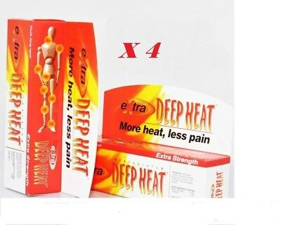 4 x Rohto Mentholatum EXTRA STRENGTH DEEP HEAT GEL Cream Pain Relief Rub 30 gr