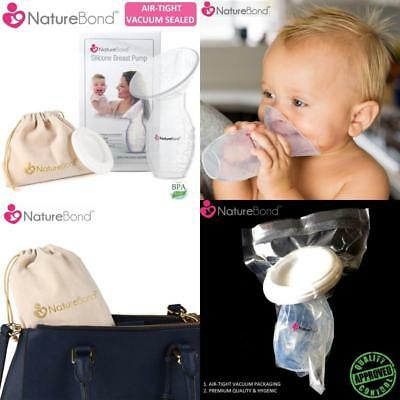 Manual Breast Pump Milk Saver Suction Silicone Breastfeeding All-In-1 Gift Box