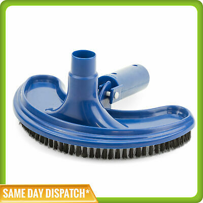 Pool Vac Vacuum Head with Brushes - Heavy-Duty - BLUE