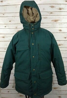 Vintage Eddie Bauer Coat Men's XL X-Large Green Goose Down Parka Made in USA