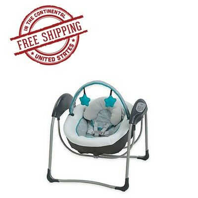 Glider Lite Gliding Baby Swing with 6 speeds Chair Soother