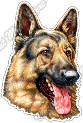 "German Shepherd Dog Face Breed Pet K9 Car Bumper Vinyl Sticker Decal 4""X5"""