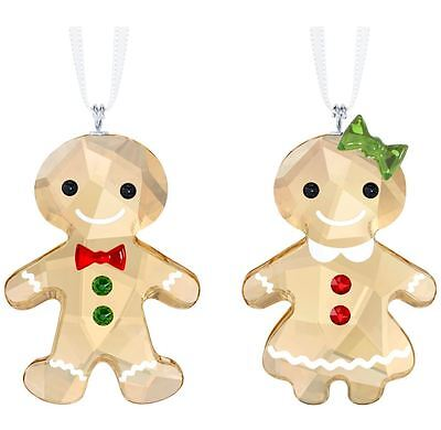 Swarovski Crystal Creation 5281766 Gingerbread Couple Ornament Set RRP $149