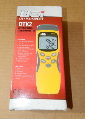 UEi DTK Differential Thermometer Kit -328~2498F Range, K Type see pictures