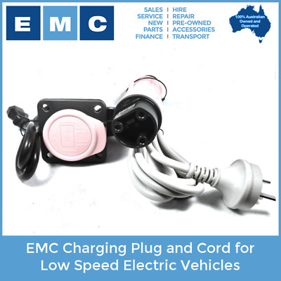 EMC Charging Cord and Plug for Low Speed Electric Vehicles