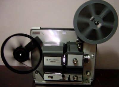 Bell&Howell 466A Super 8/ Standard 8mm Adjustable Speed Movie Projector Serviced